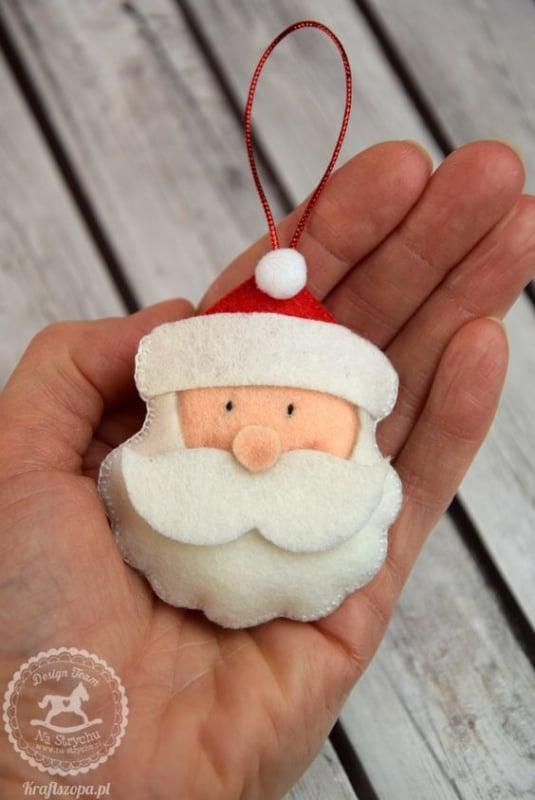 decoração de feltro para árvore de natal