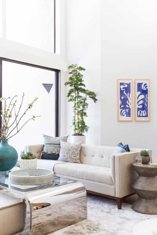sala moderna com planta