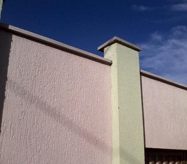 muro com pingadeira simples