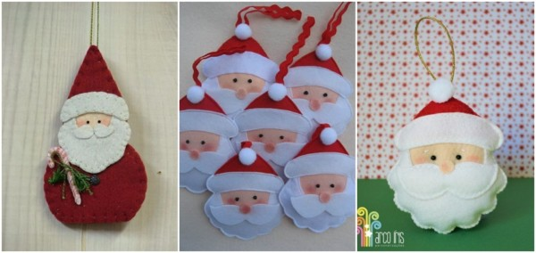 decoração de feltro para árvore natalina