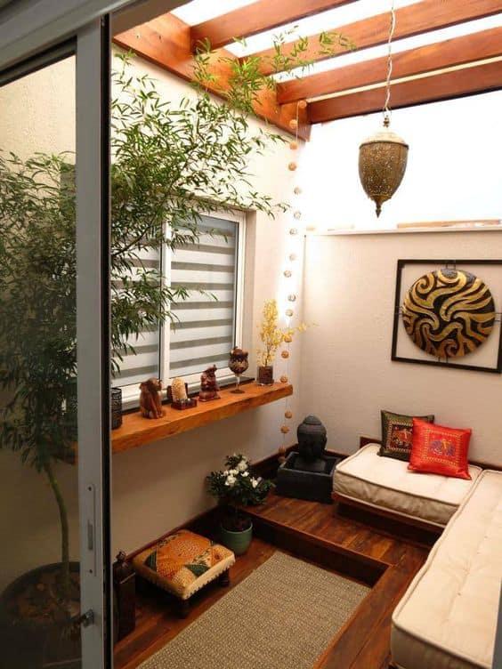 decoração espaço zen com plantas