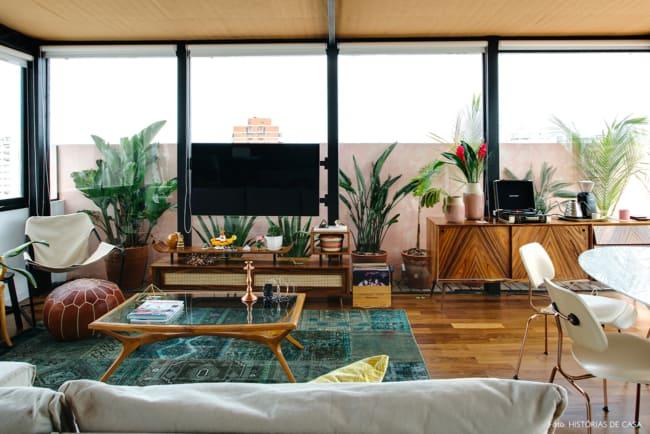 sala com móveis usados