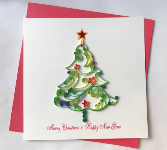 cartão decorado quilling
