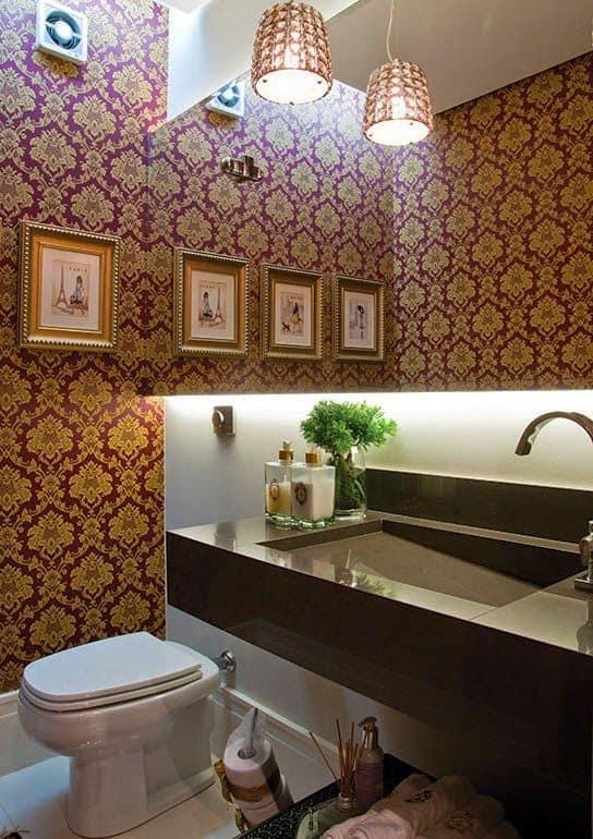 lavabo decorado com quadrinhos