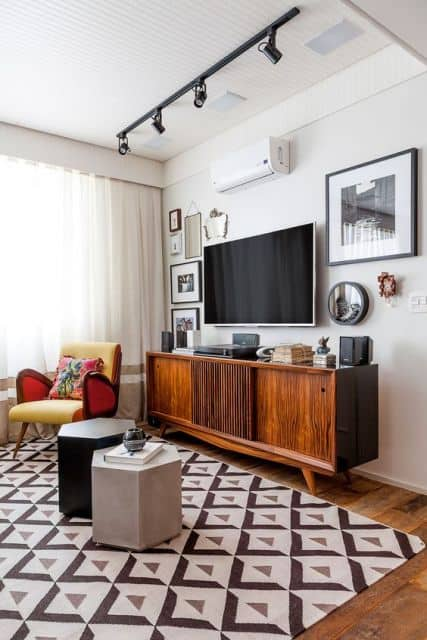 sala com decoração vintage