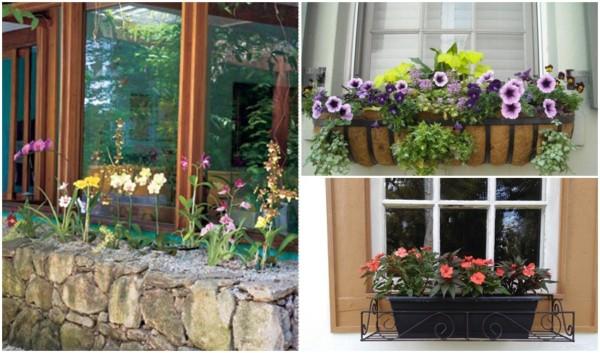 janelas decoradas com flores