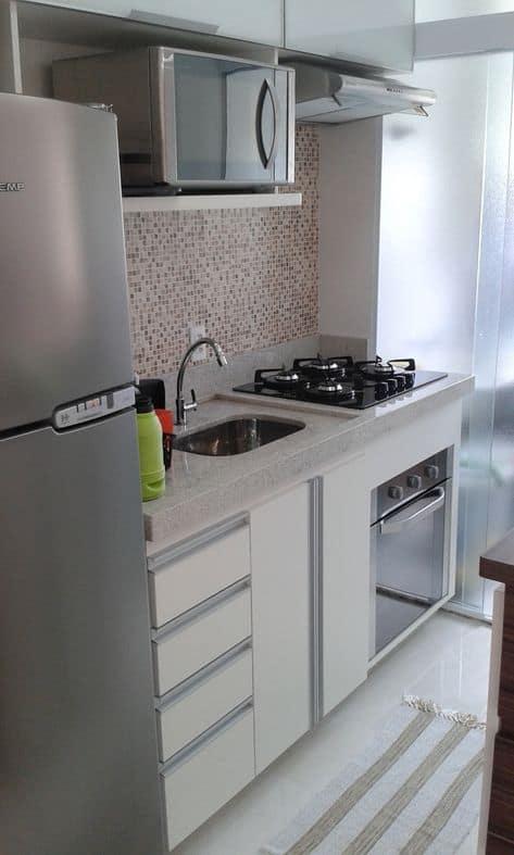 cozinha apartamento com cooktop