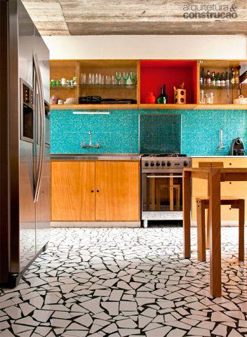 piso simples para cozinha