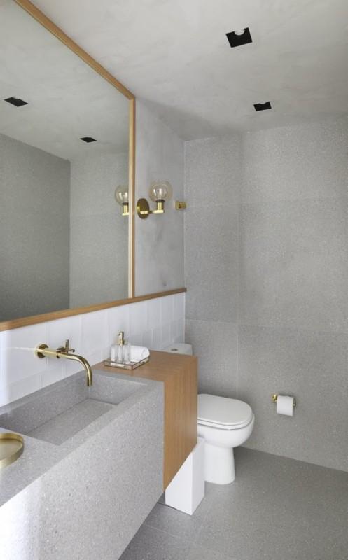 lavabo cinza marmorite