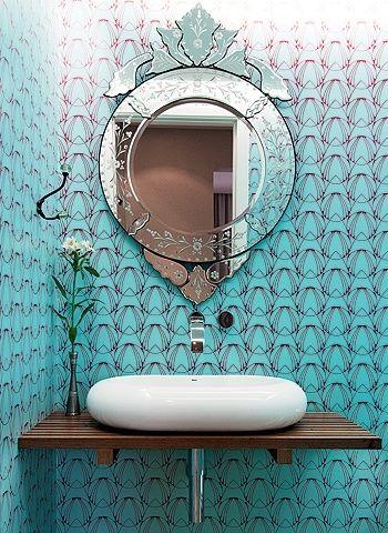 banheiro turquesa