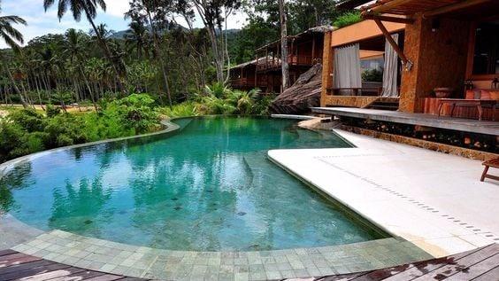 borda de piscina de pedra Hijau
