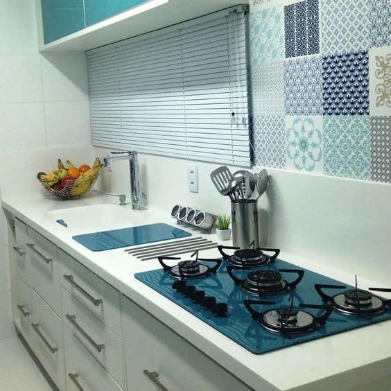 cooktop azul