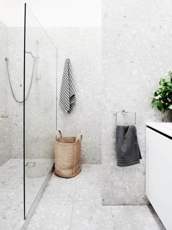 parede cinza de marmorite