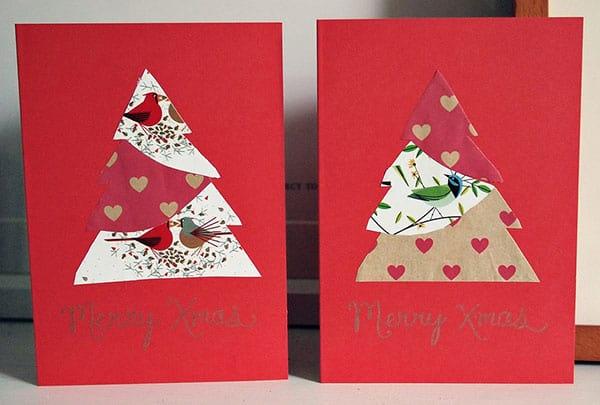 cartão decorado com papel colorido