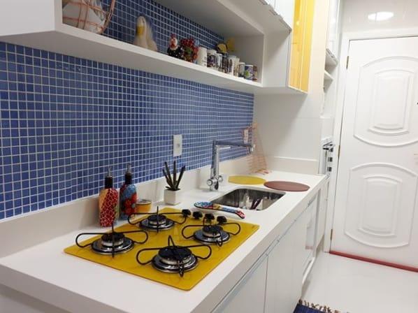 cooktop amarelo na decoração