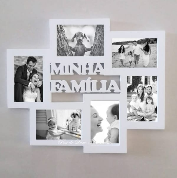 Quadro para por fotos de família
