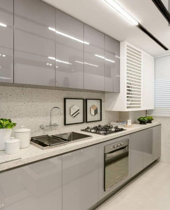 bancada para cozinha com cooktop
