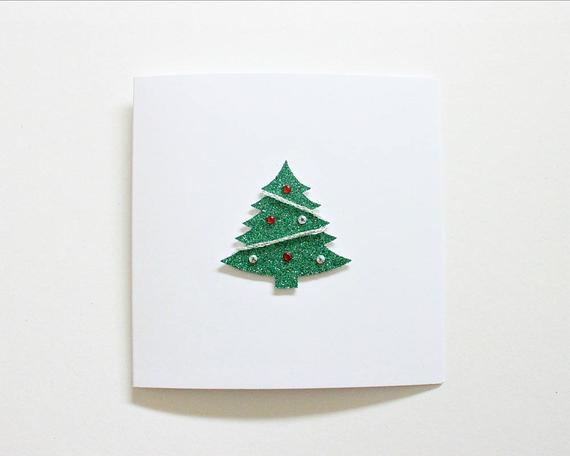cartão decorado com pinheiro de natal