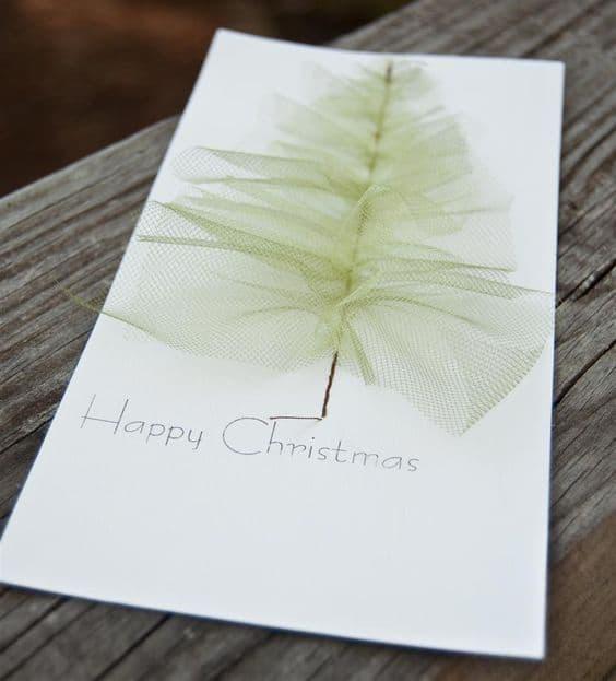 cartão decorado com tecido