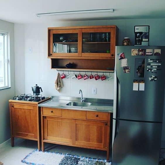 cozinha rústica com cooktop