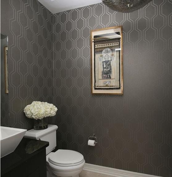 lavabo com paredes pretas