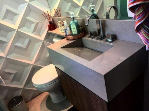 lavabo com pia esculpida