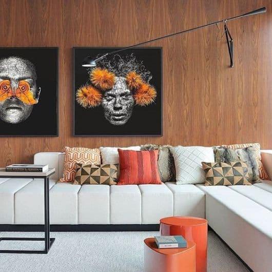 sala moderna com quadros