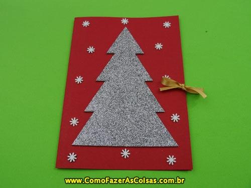 cartão decorado em EVA