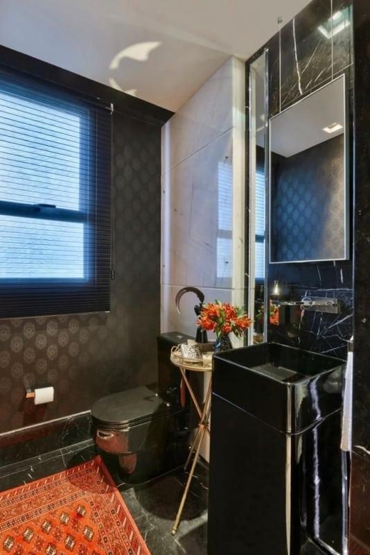lavabo moderno preto