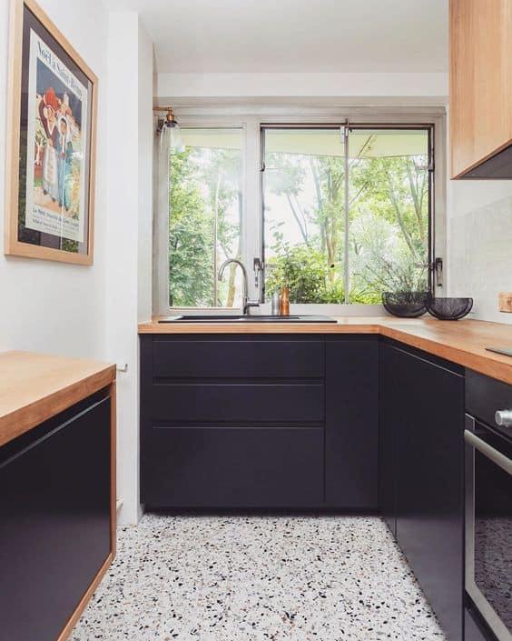 piso para cozinha pequena