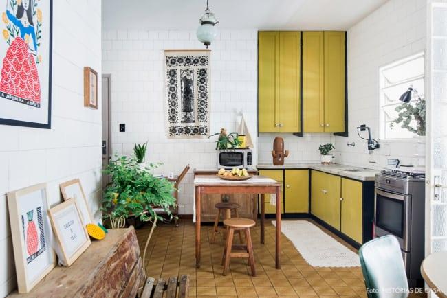 cozinha com decoração vintage