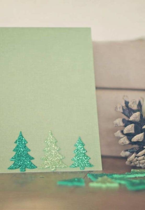 decoração de cartão natalino