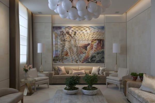 decoração com quadro grande