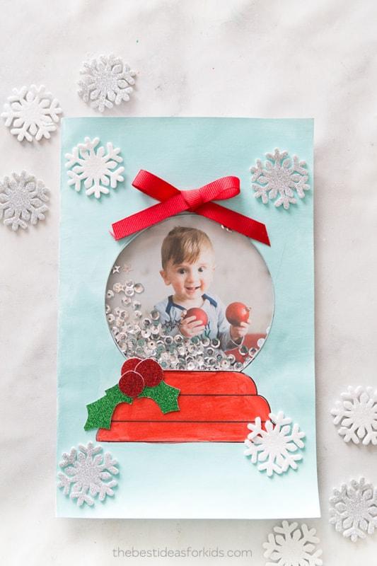 cartão de natal decorado com foto