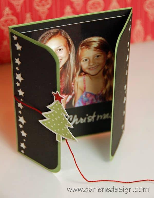 cartão feito à mão com foto