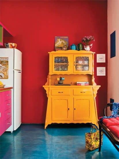decoração colorida para cozinha
