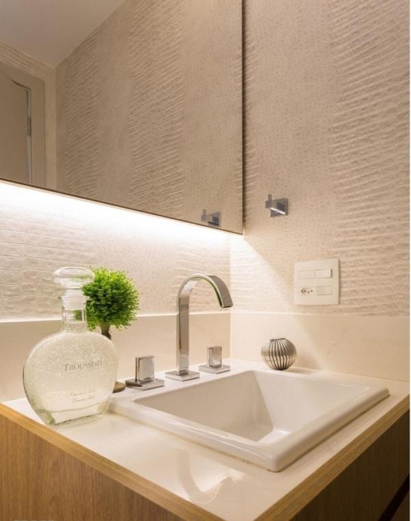 papel de parede com textura na decoração