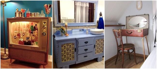 como usar móveis antigos na decoração
