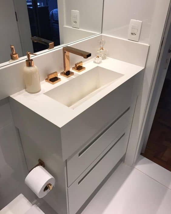 pia para banheiro moderno