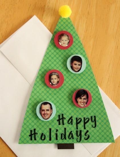 cartão decorado com fotos