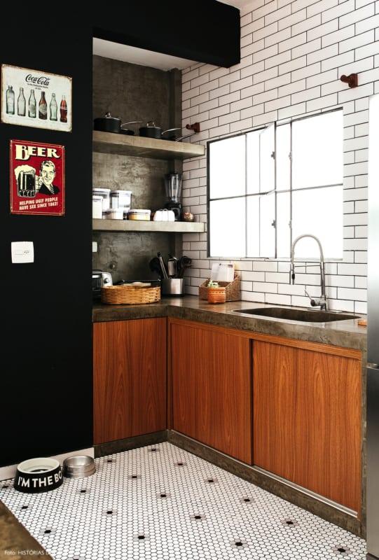 cozinha pequena estilo industrial