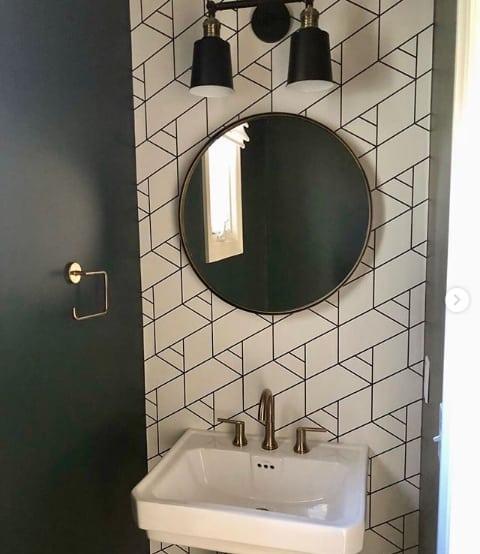 papel de parede moderno preto e branco