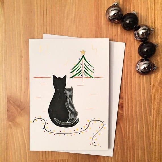 cartão natalino para casal