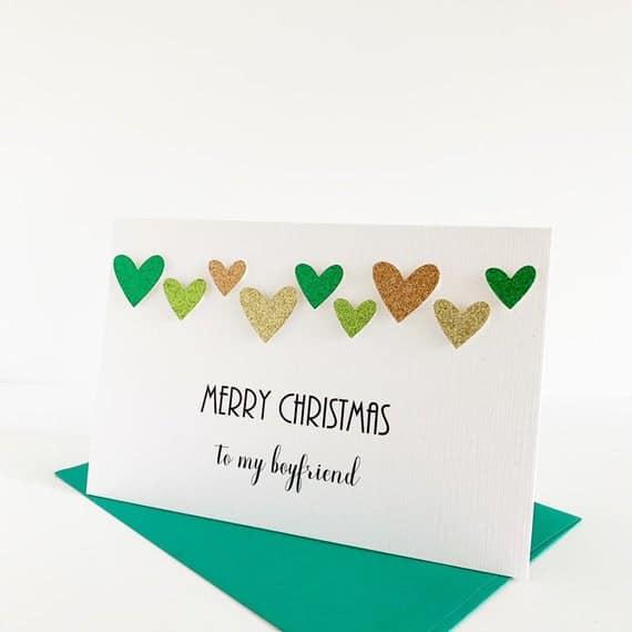 cartão natalino romântico