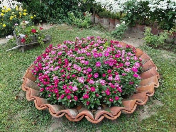 canteiro criativo para jardim