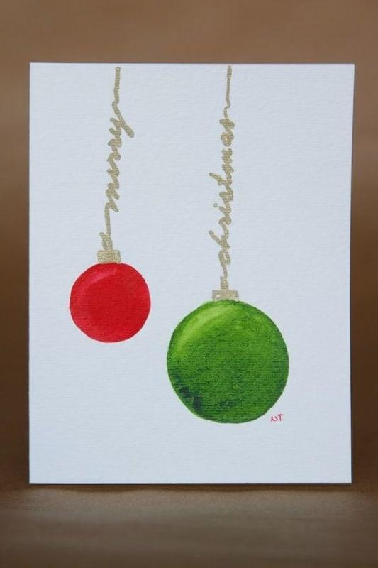 cartão de natal feito à mão