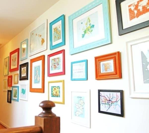 molduras para quadros coloridos