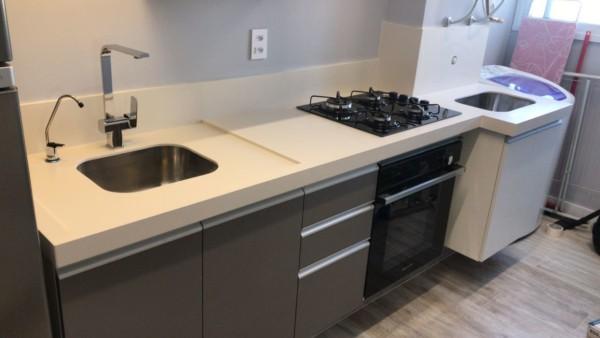 pia para cozinha e lavanderia integradas