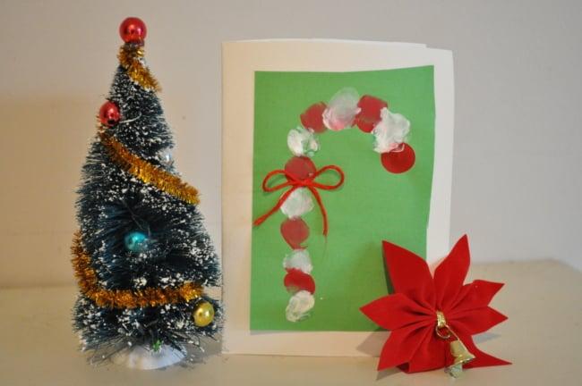 cartão artesanal simples para crianças
