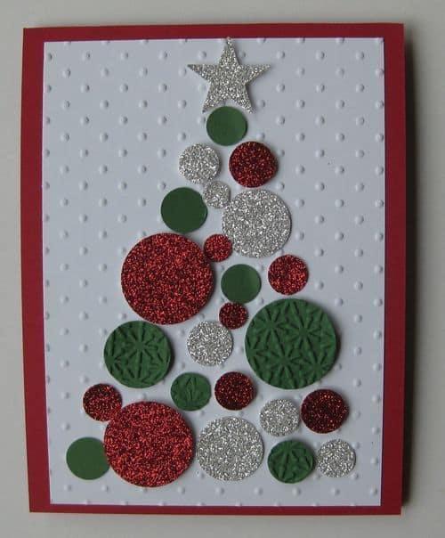modelo de cartão simples para natal